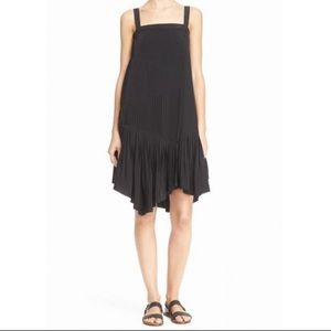 NWOT Tibi Pleated Silk Sheath Dress
